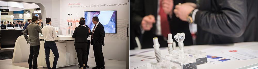 """Unser bewährtes Konzept für festsitzenden Zahnersatz für den zahnlosen Kiefer """"All-on-4"""" und unser neues Implantatsystem Nobel Parallel CC (Foto © Robert F. Hausmann, www.eventfotografen.ch)"""