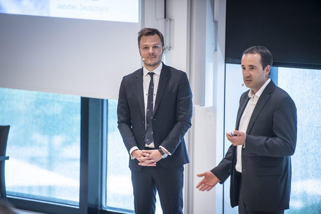 Dr. Sebastian Horvath und Dr. Flavio Brunner sprechen über Behandlungskonzepte zur Knochenregenartion