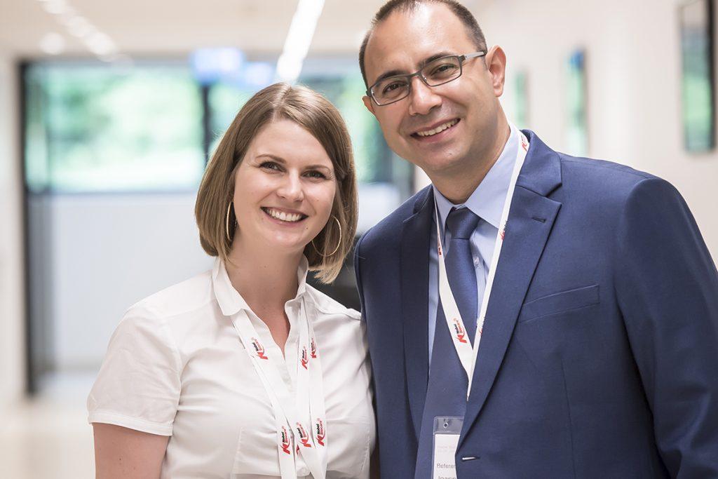 Organisatorin der Fortbildung Christina Krichbaum & Prof. Dr. Ioannis Katsoulis